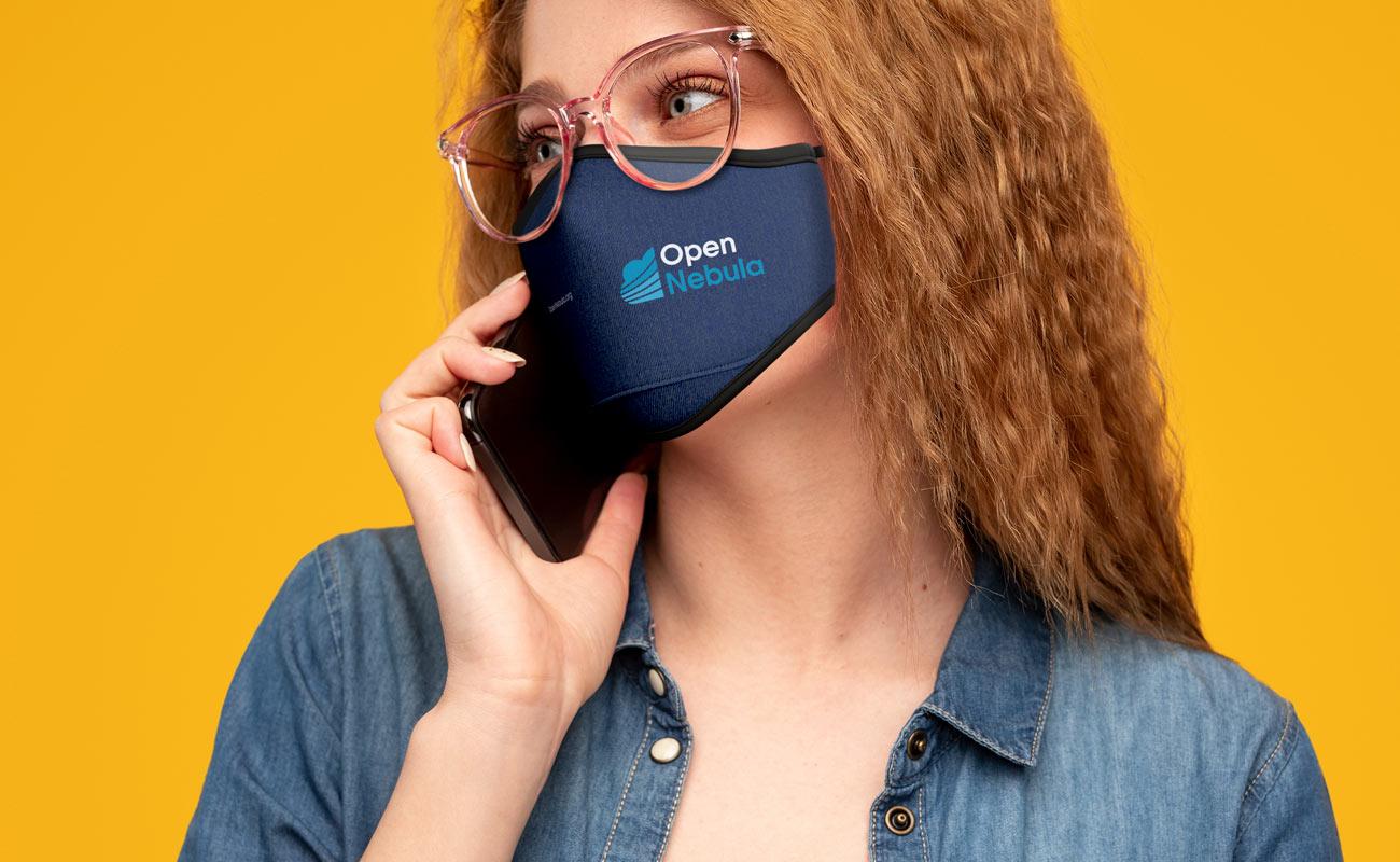 Denim - Anpassed ansiktsmask