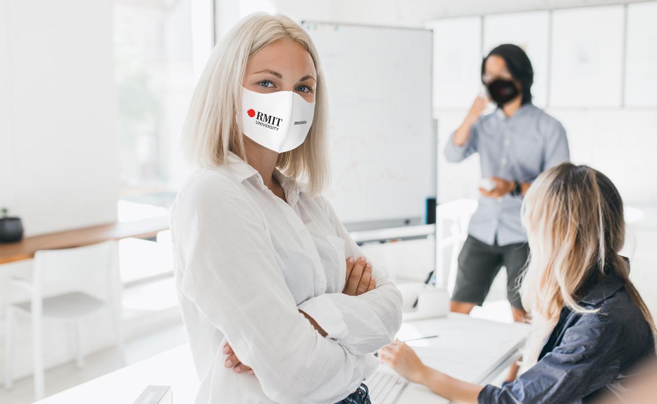 Neo - Ansiktsmasker med logotyp